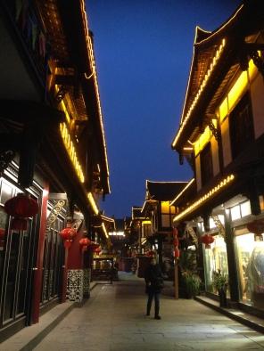 Chengdu Old Street by night
