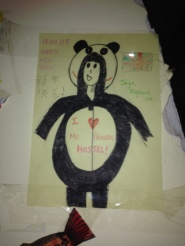 A self portrait of me in a panda onesie. I am artistically crippled.