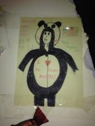 A self portrait of me in a panda onesie. I am artistically crippled.