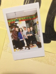 Polaroid of us with the owner