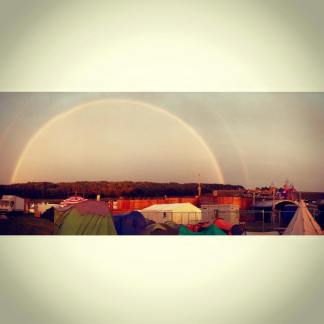 Double Rainbow at Boomtown